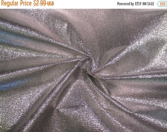 ON SALE SPECIAL--Shiny Silver Metallic Lame Fabric for Party Decor Table Toppers or Costumes--By the Yard