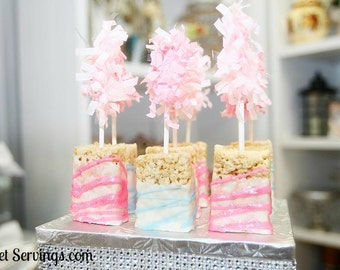 Rice Krispie Treats, Rice Crispy Treats, Favors, Sweets, Party Favors, Princess Favors, Birthday Party, Sweet Sixteen,