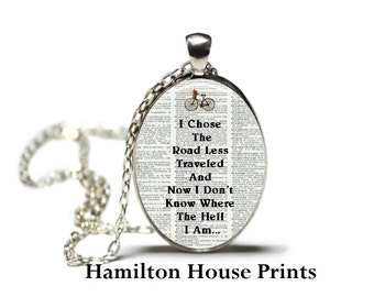 Funny Jewelry Dictionary Art Print Pendant Dictionary Necklace Hamilton House Prints Orginal Jewelry Quote Jewelry