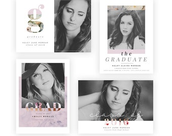 2016 Floral Grad 5×7 Cards