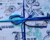 Quilted Placemats (Paris theme)(Blue and White)(Set of 6)
