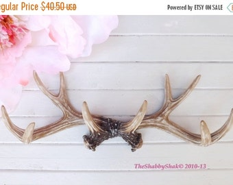 On Sale Large Antler Wall Rack/ Large Wall Antler / Rustic / Faux Antlers / Deer Antlers / Shabby Chic Decor