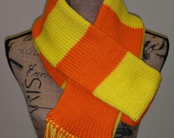 Bright yellow and orange scarf