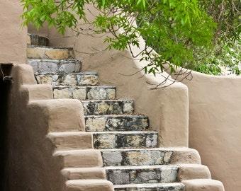 Adobe Stair Photographic Print