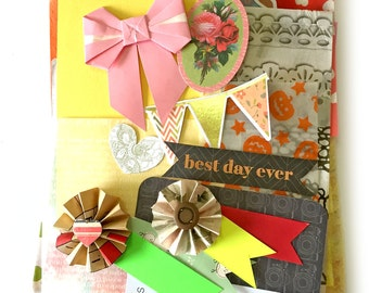 Bits and pieces scrap pack - Thin and translucent paper scraps 2