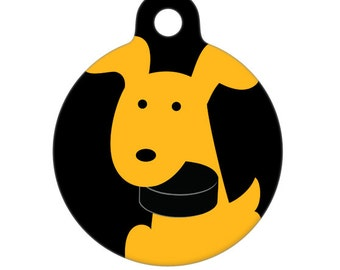 Pet ID Tag - Hockey Team Pup Customize With Your Teams Colors Pet Tag, Dog Tag, Luggage Tag