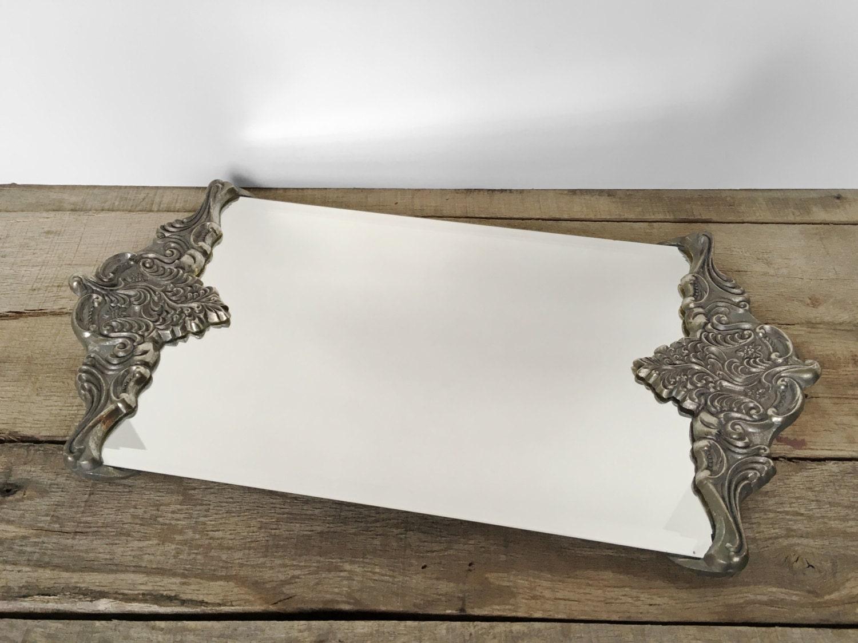 Shop Sale Vintage Godinger Mirrored Tray Vanity Tray