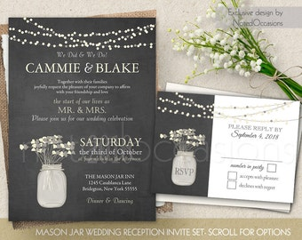 view reception only invites by notedoccasions on etsy wedding invitations - Wedding Reception Only Invitations