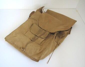 Vintage messenger bag/ back pack/ cotton canvas/