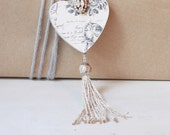 French Inspired Sacred Heart Ornament