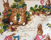 Reserved for Forty Ravens - Vintage Peter Cottontail Fabric Riverdale Screen Print 1970s