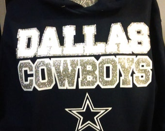 Dallas Cowboys Glitter Sweater or Tee