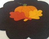 Fall Wool Felt Candle Mat
