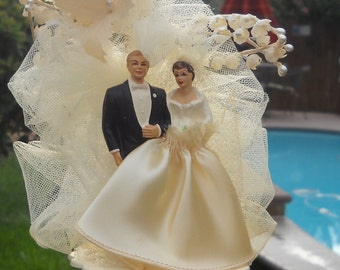 Vintage Wedding Topper  - 1950
