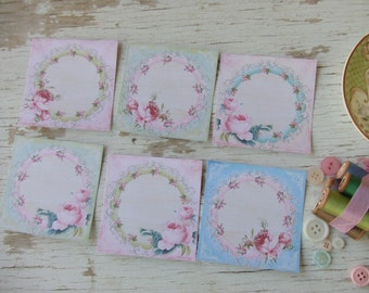 Small notecards - mini notecards - shabby chic - rose notecards - blank notecards - jewelry display