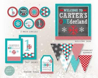 Winter ONEderland Chalkboard Edition Printable Package by Beth Kruse Custom Creations