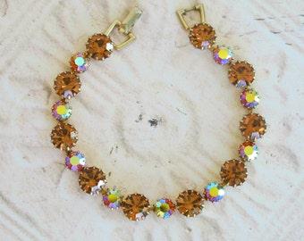 Weiss Bracelet In orange Rhinestone