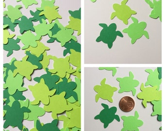 100 Green Turtle die cuts, Honu die cuts, Turtle confetti, Honu confetti, Sea Turtles, embellishments, Turtle confetti, Turtle, Honu