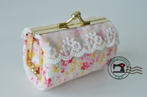 Lipstick Case/Makeup Case PDF Sewing Pattern for any sized frame