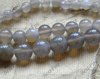 Charm grey agate round stone beads, gemstone Beads ,agate stone beads loose strands,agate findings beads