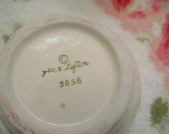 Lefton 3858 collection.  Jam Jar with lid, Mugs, Sugar Bowl and creamer.