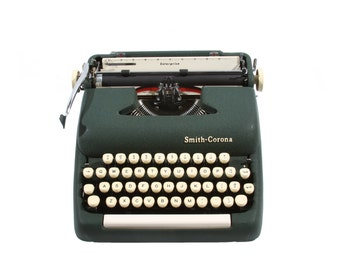 Smith Corona Sterling Typewriter - Vintage 1960's - Excellent Working Order - FREE Domestic Shipping