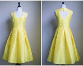 Heart Bridesmaids Dress - Silk Dupioni Box Pleat Skirt - custom color, adjustments and size
