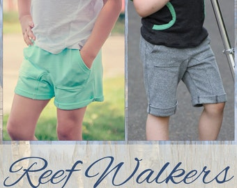 Reef Walkers Shorts pattern boys girls unisex 6-12m 12-18m 18-24m 2t 3t 4t 5t 6 7 8 10 12 14 16