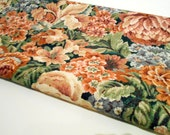 Floral Print Vintage Fabric, 1 yd Remnant, Home Decor Material from Interior Fabric Design Inc