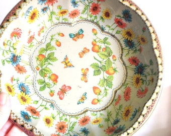 Vintage Daher-Decorated Ware Collectable Tin Bowl, 1971