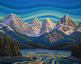 Head Waters, Elk Lake, 20X30, Original Painting, Canadian Artist, Ready to Hang, Gallery Canvas
