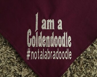 I am a Goldendoodle #not a labradoodle Dog Bandana