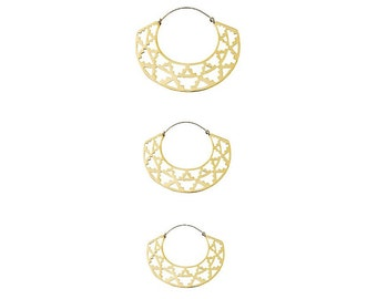 Azteka Hoops - Geometric Earrings - 3 Sizes