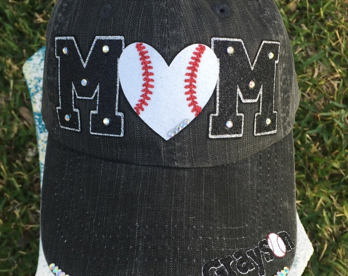BaseBall Mom Fan Womens Baseball Cap, Tball Mom Trucker, Sports Mom, Team Mom