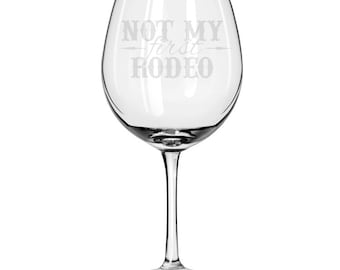Oversized Red Wine Glass-18 oz.-6746 Not My First Rodeo