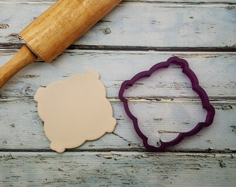 Yvette Plaque Cookie Cutter and Fondant Cutter and Clay Cutter