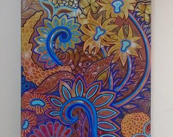 "Original Acylic Painting, ""Organic"" 2015"