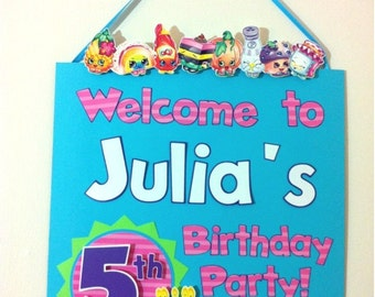 SHOPKINS - Custom Birthday Party Door Sign