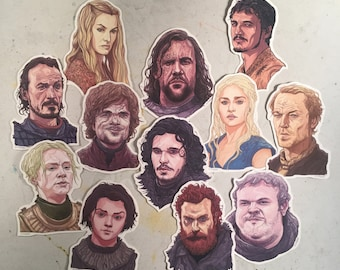 12 GAME of THRONES Lil' Stickers