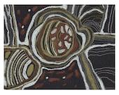 Abstract original pastel black round shape