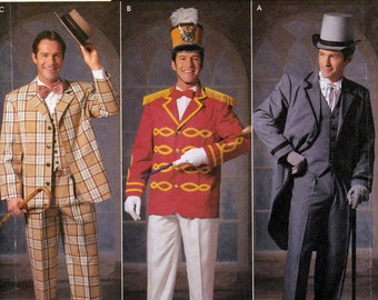 Simplicity 9686 On Stage Sewing Pattern for Music Man Men's Costumes - Uncut - Size XS, S, M, L, XL