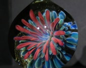 Aquatic Flower Glass Pendant Lampwork Implosion Borosilicate Bead Collection