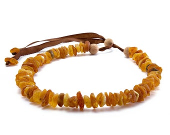 L Size. Baltic Amber Necklace for Cats and Dogs / Untreated Authentic Baltic Amber Dog Necklace / Natural tick /Flea Control and Prevention
