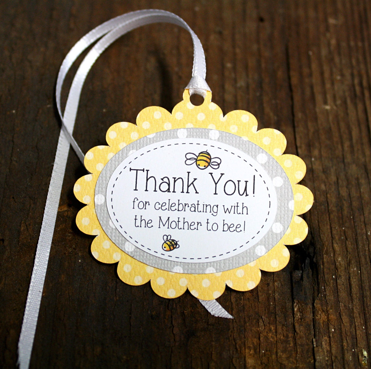Bumble bee themed baby shower tag personalized gift tags or - Baby shower favor tags ...