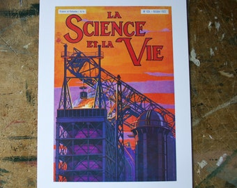 Industrial Landscape from vintage French Science Publication 1920s