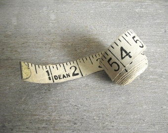 Vintage DEAN Tape Measure / Cloth Measuring Tape / Sewing Tape Measure / Tailor Seamstress Tape / Vintage Sewing Supplies
