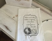 True Love and Homegrown Tomato  Flour Sack Towel