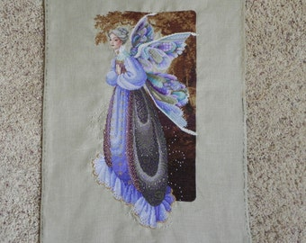 Fairy Grandmother Cross-Stitched Picture
