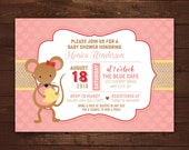 Woodland Mouse Printable Baby Shower or Birthday Invitation -- Any Color