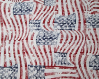 Patriotic Distressed Flags Surgical Scrub Top / X Small - XX Large